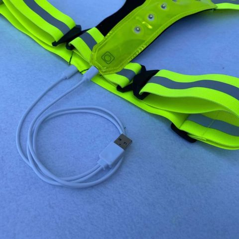 Reflective LED Running Vest USB Rechargeable