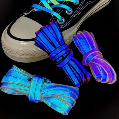 reflective colorful shoelaces