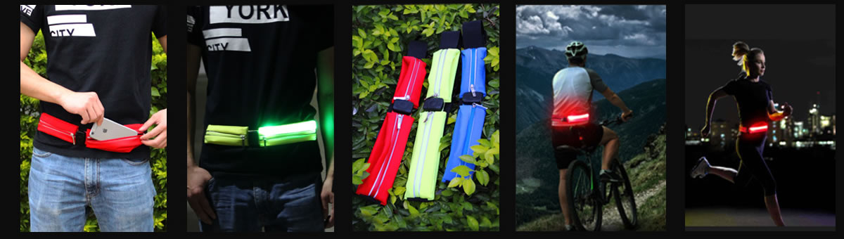 the application of the LED Running Waistbag USB Rechargeable